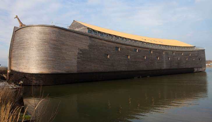 Visitors are flooding in … Johan Huibers' Ark of Noah. Photograph: Alamy