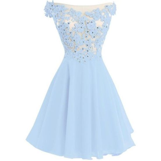 Light Blue Graduation Dresses