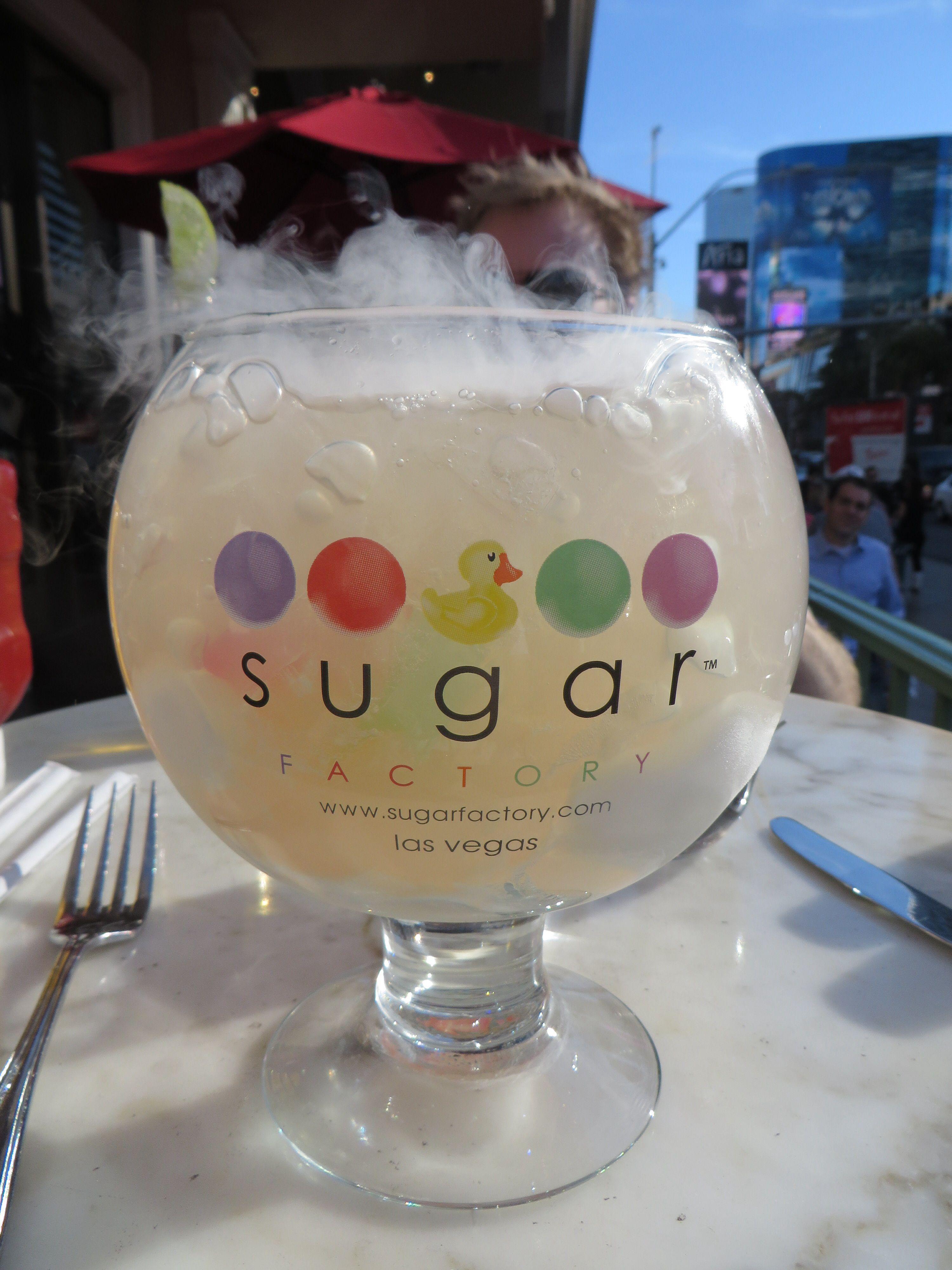 The White Gummi Goblet at The Sugar Factory in Las Vegas. Lemon sour ...