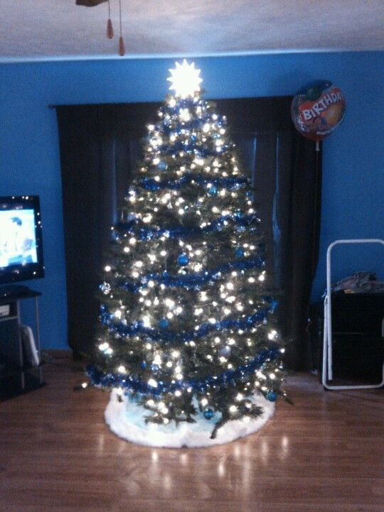 Our first Christmas Tree Blue  Silver Christmas Pinterest