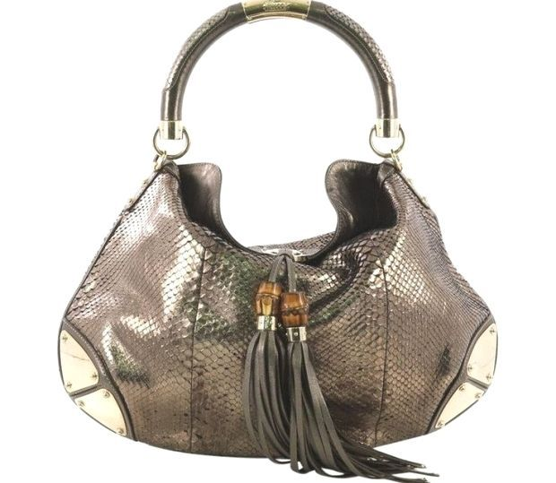 Gucci Indy Hobo Python Hobo Bag Multiple Size Large