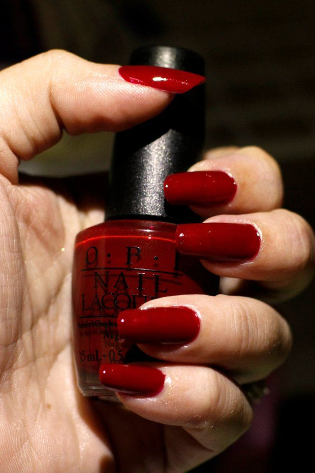 oooh! a lovely bloody color! wanna try it! OPI Prune Danish | Polish ...