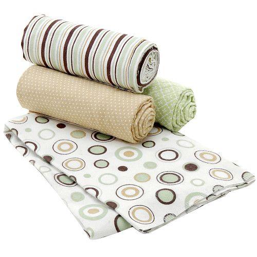 Carter S 4 Pack Receiving Blanket Sage Dot Nursery