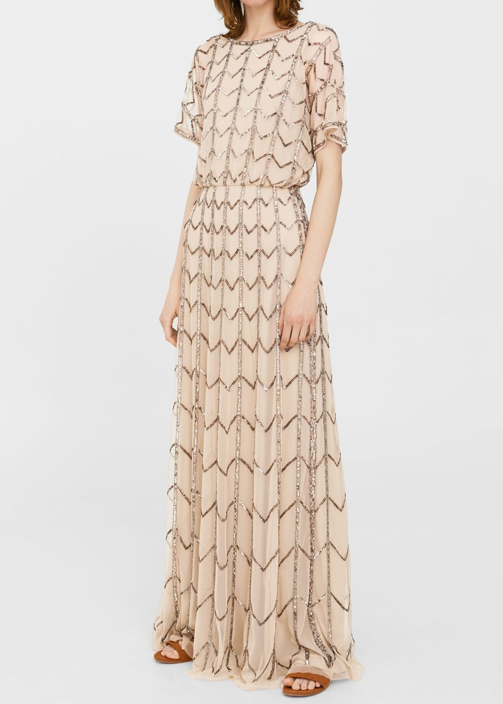 sequin tulle dress - woman | mango denmark | kleider damen