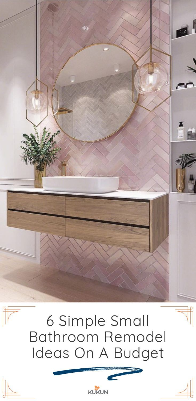 Photo of 12 kleine Badezimmer umgestalten Ideen, wenn Sie ein begrenztes Budget haben
