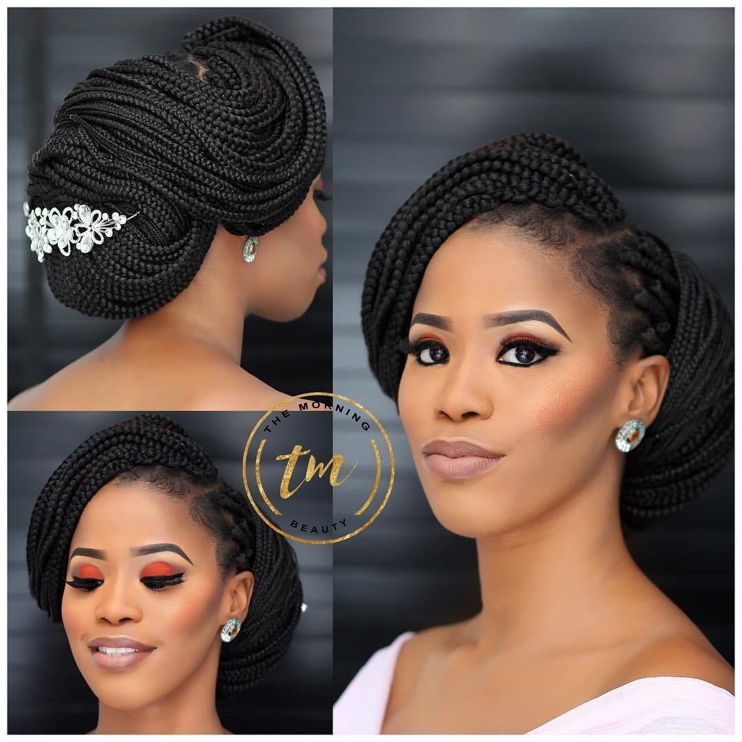 Wedding Hairstyles With Box Braids Bohemian Box Braids For Wedding Get Inspiredt In 2020 Black Wedding Hairstyles Braided Hairstyles For Wedding Natural Hair Styles