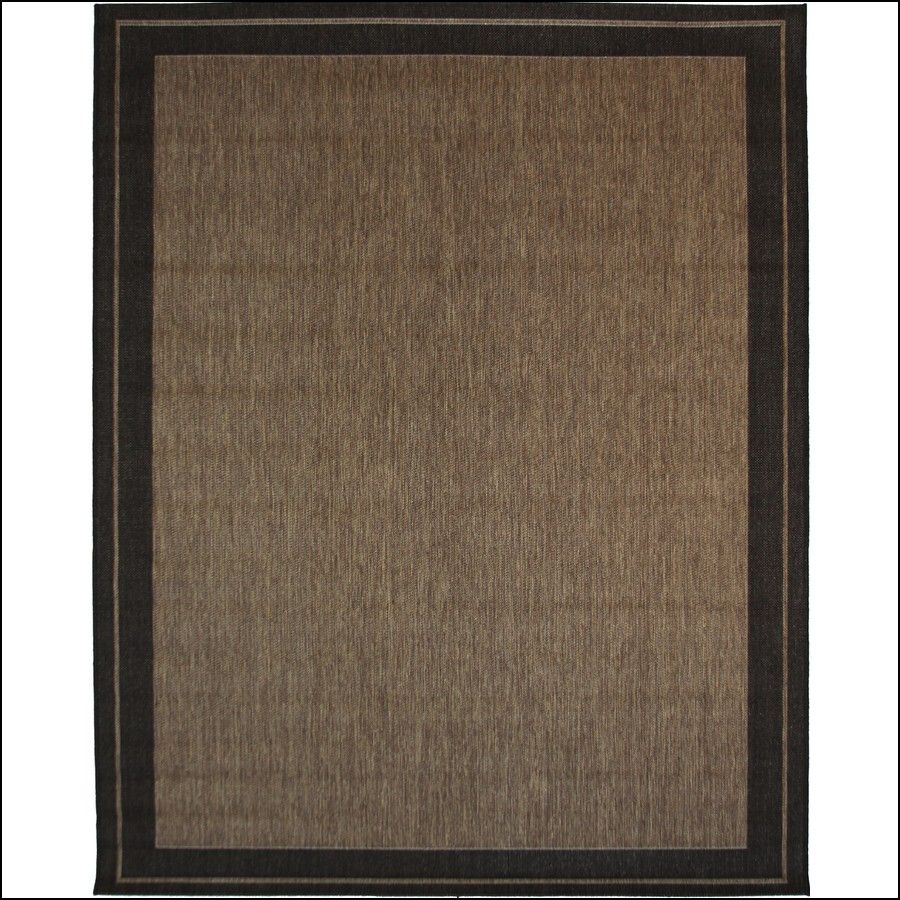 New Haven Havanah And Black Rectangular Indoor Outdoor Machine Made Nature Area Rug Common 8 X Actual