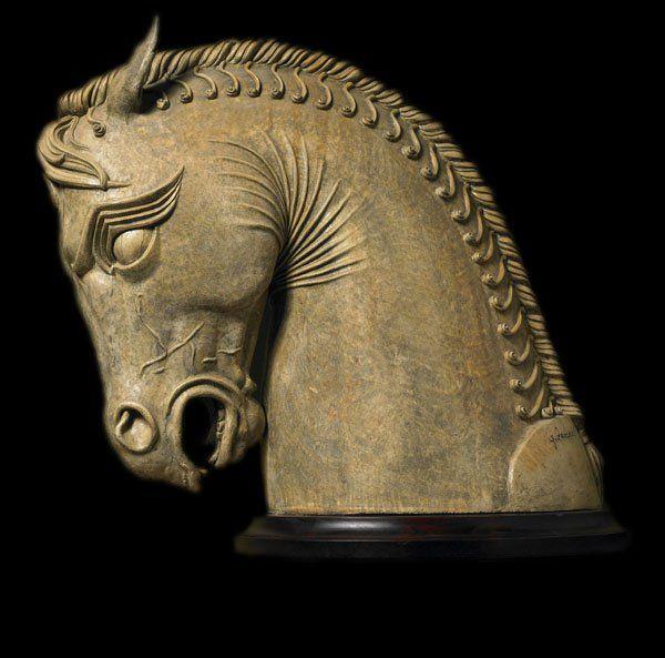 Ancient Persian Horse From Persepolis Sculpture Ancient Persian Art Ancient Persian Sculpture Museum
