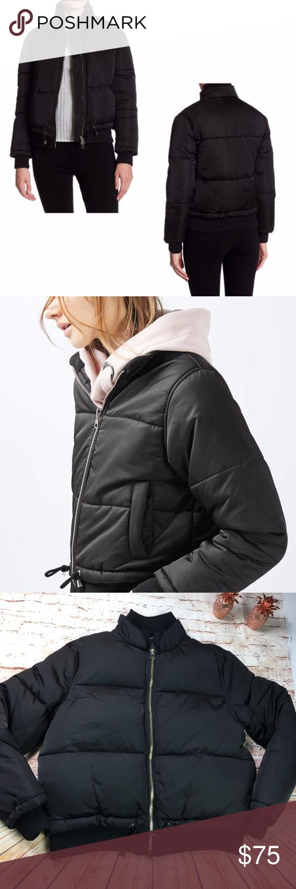 Sold Topshop Black Puffer Bomber Jacket Nwot Black Puffer Topshop Jacket Winter Puffer Coat [ 1740 x 580 Pixel ]