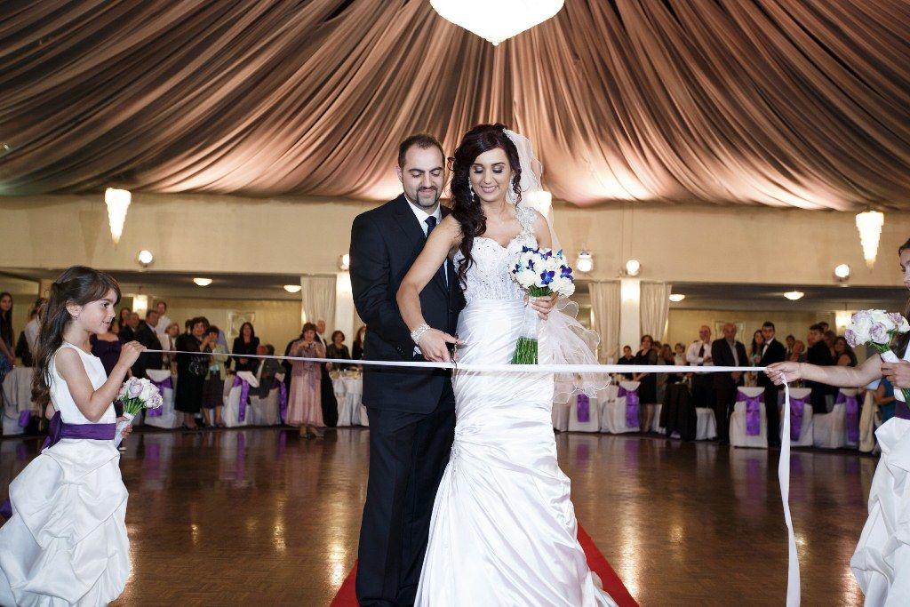 Bill & Maria 17.11.12 #wedding #ballroom #bride #groom #flowergirls #ribbon #melbourne #venue #sanremoballroom