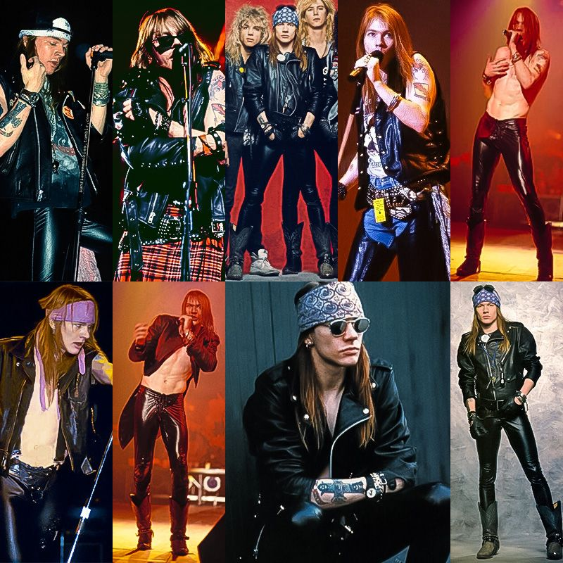 Axl Rose in leather