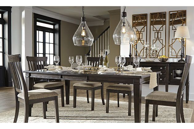 The Alexee Dining Room Extension Table And Chairs Make Room For