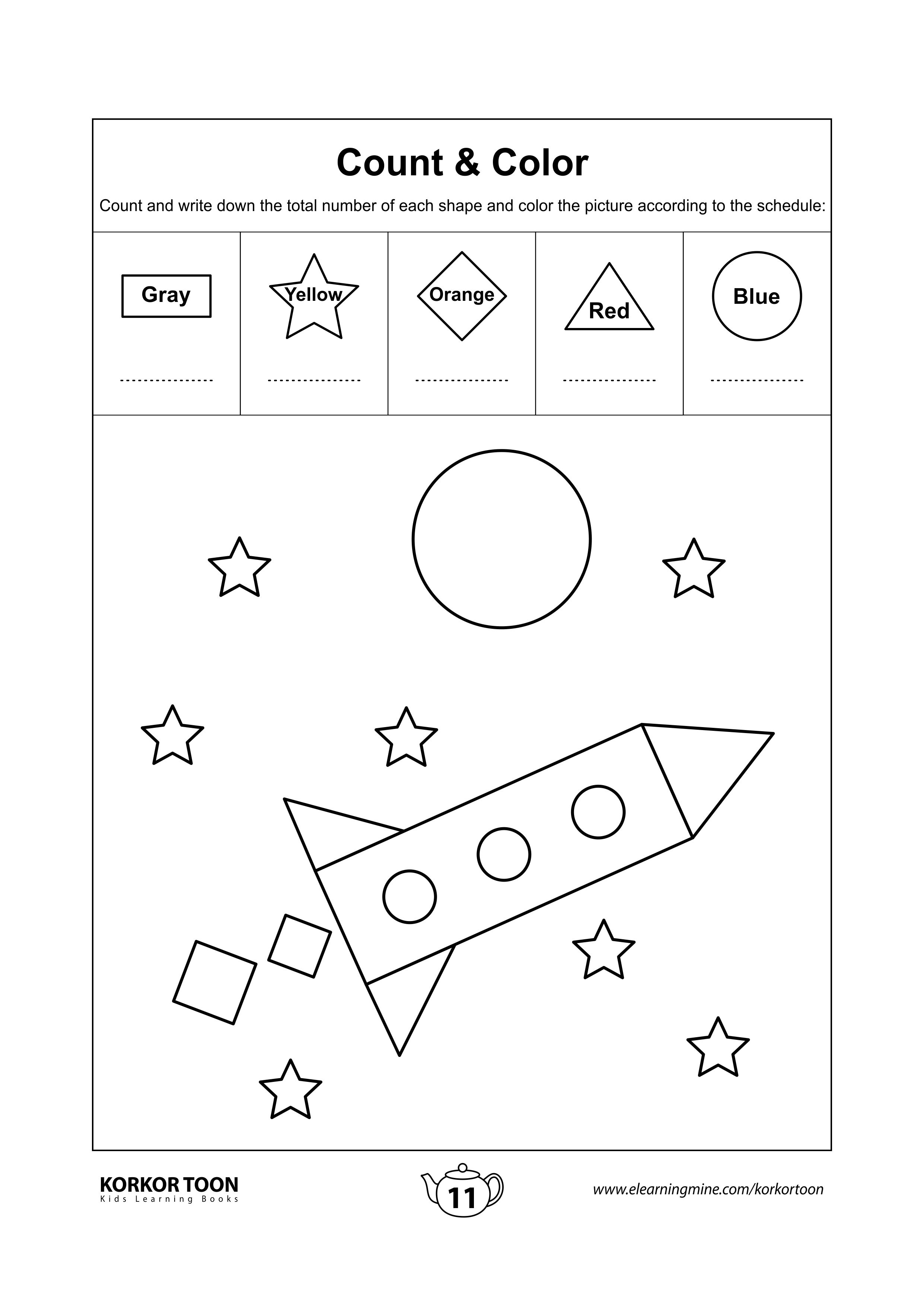 79 Cool Shapes Coloring Pages