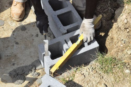 how to build a concrete block wall foundation