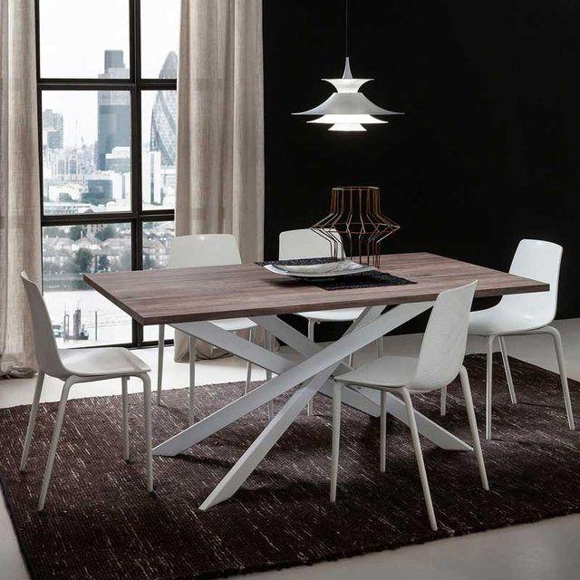 Fancy renzo vintage walnut extendable table decora o for Mobilia kitchen table