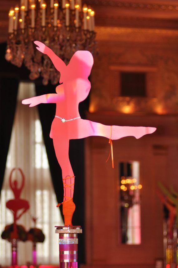 Large Dancer Silhouette Cutout Centerpiece Pose 2 More