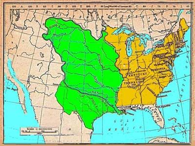 Early History Map United States Purchased The Louisiana - Map of the us in 1800