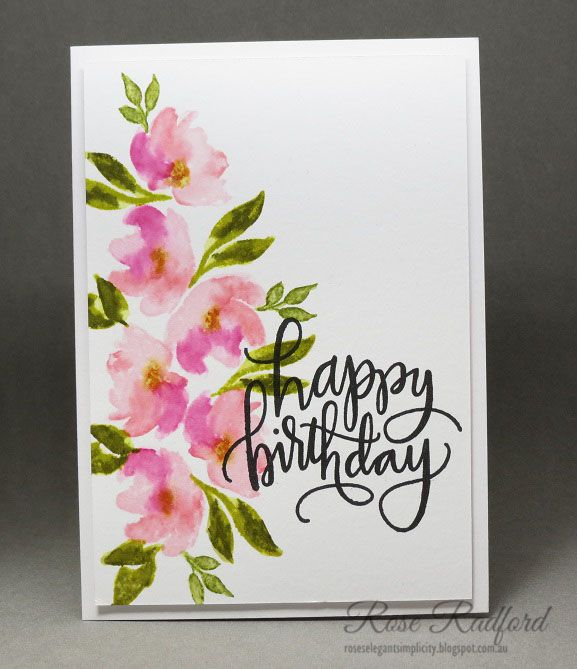 Birthday Wishes Watercolor Birthday Cards Birthday Card Drawing
