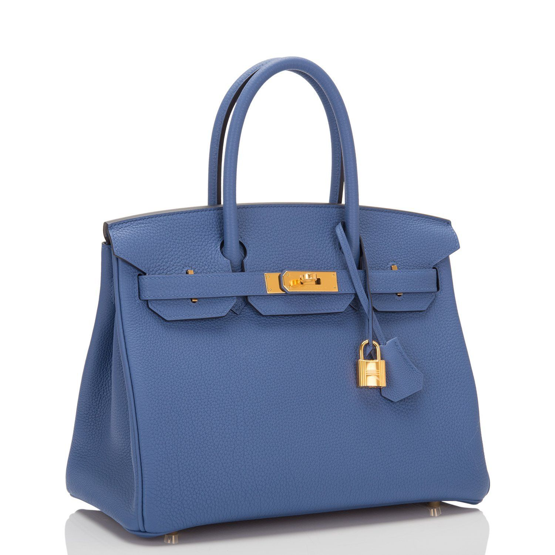 0967770f2ff3 Hermes Blue Brighton Togo Birkin 30cm Gold Hardware