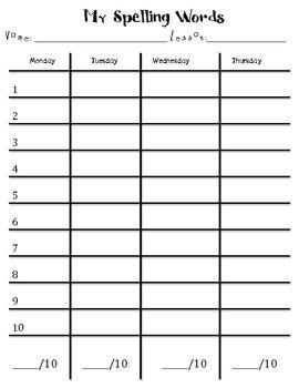 13+ Spelling word practice sheets info