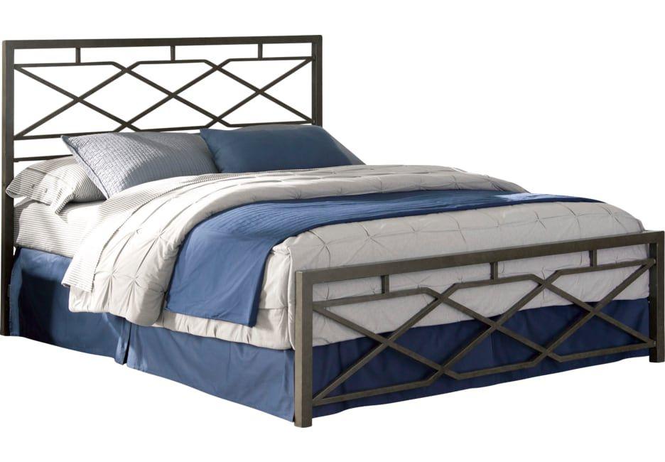 Alpine Lane Pewter Queen Bed Bed Furniture Mattress Furniture