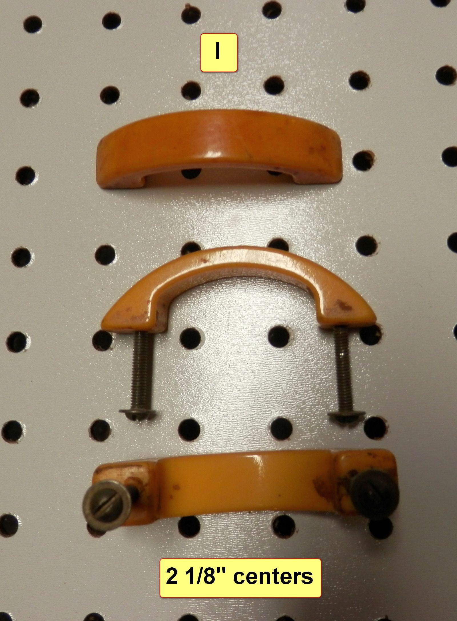 Antique Solid Bakelite Light Butterscotch Drawer Pulls 2 1 8