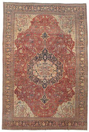 An atique and rare Farahan carpet 368x550 cm.