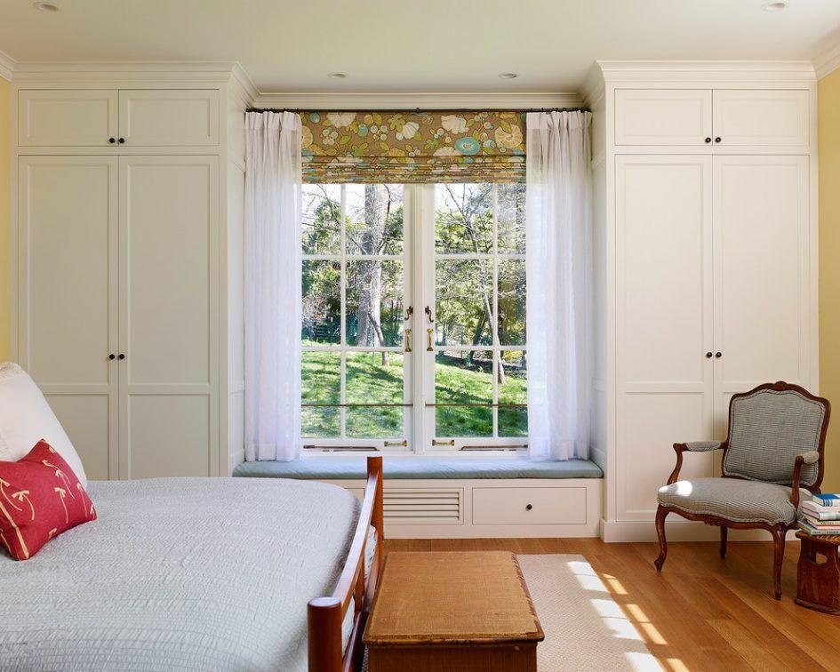 Furniture Diy Symmetrical White Built In Cabinet Bedroom With Window Seat Diy Symmetrical Bu Bedroom Window Seat Bedroom Built Ins Contemporary Bedroom Design