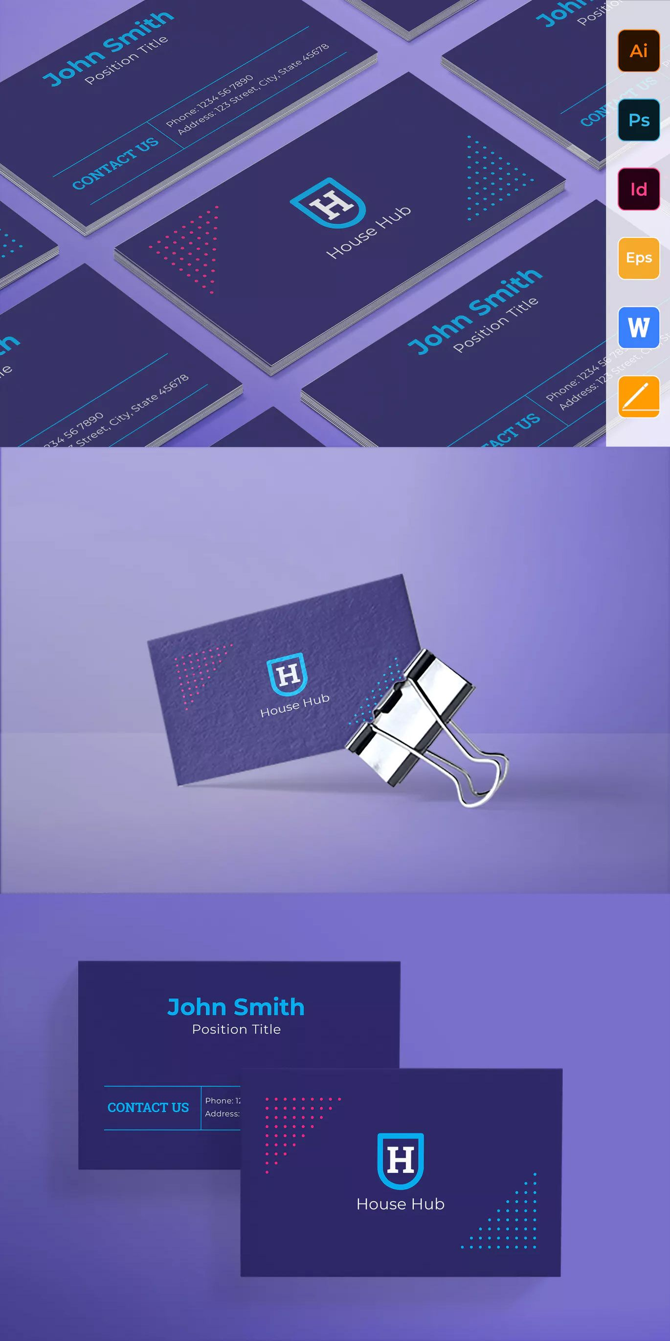 Smart House Business Card Template Ai Eps Indd Psd Business Card Minimalist Business Cards Letterpress Business Cards