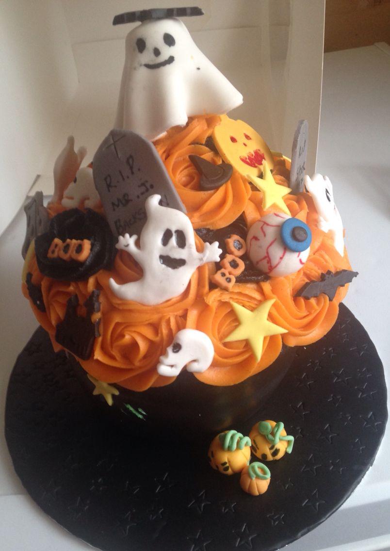 Scary Giant cupcake #giantcupcakecakes