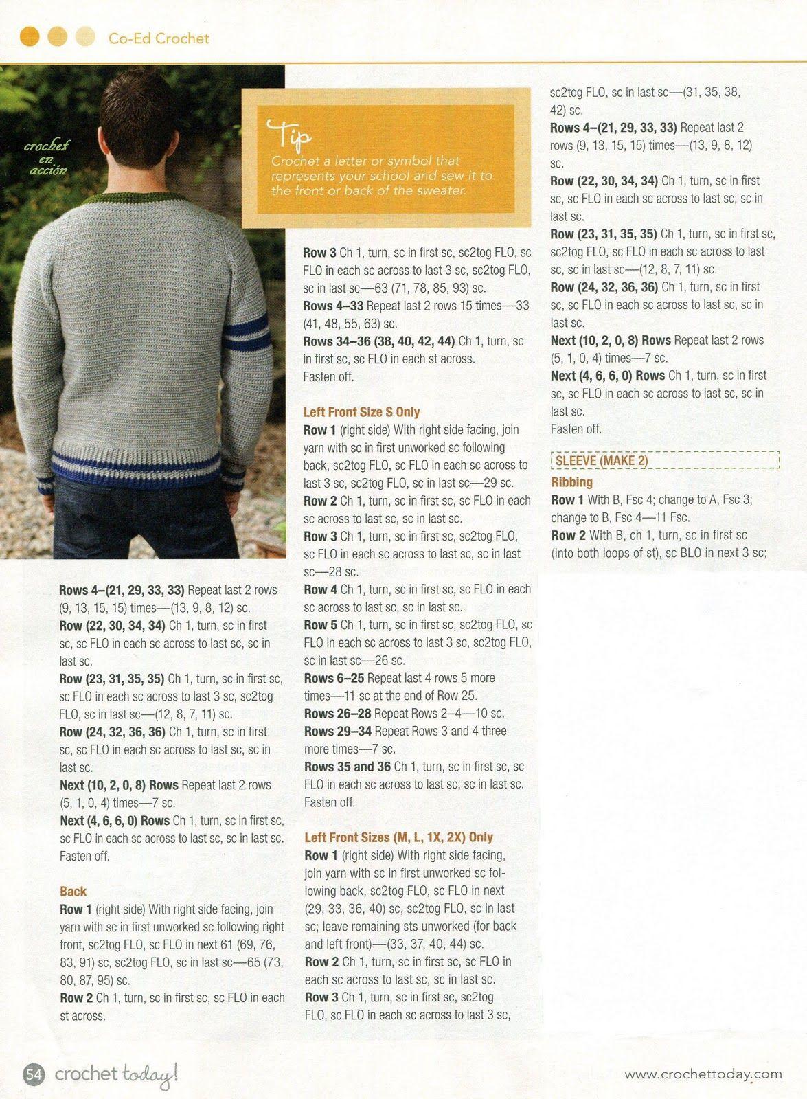 Crochet En Acción: Sweater y Pullover | erkek orguleri | Pinterest ...