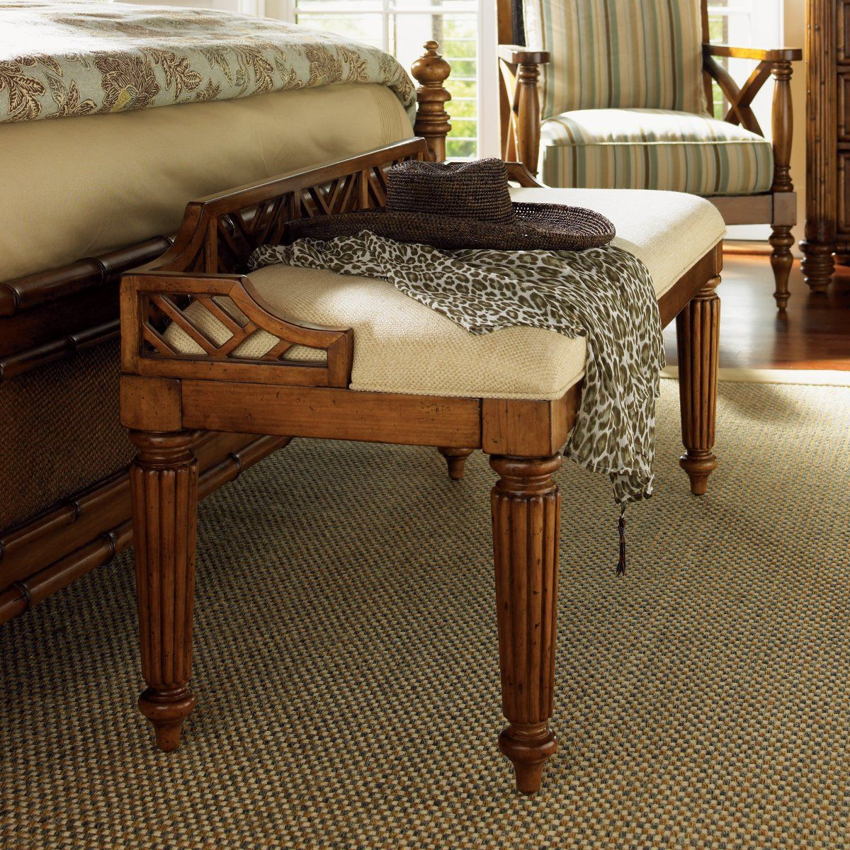 Tommy Bahama Island Estate Plantain Bed Bench Tommy