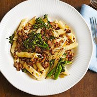 Penne with Turkey & Broccolini, $2.14 per person   http://www.rachaelraymag.com/recipe/penne-with-turkey-broccolini/
