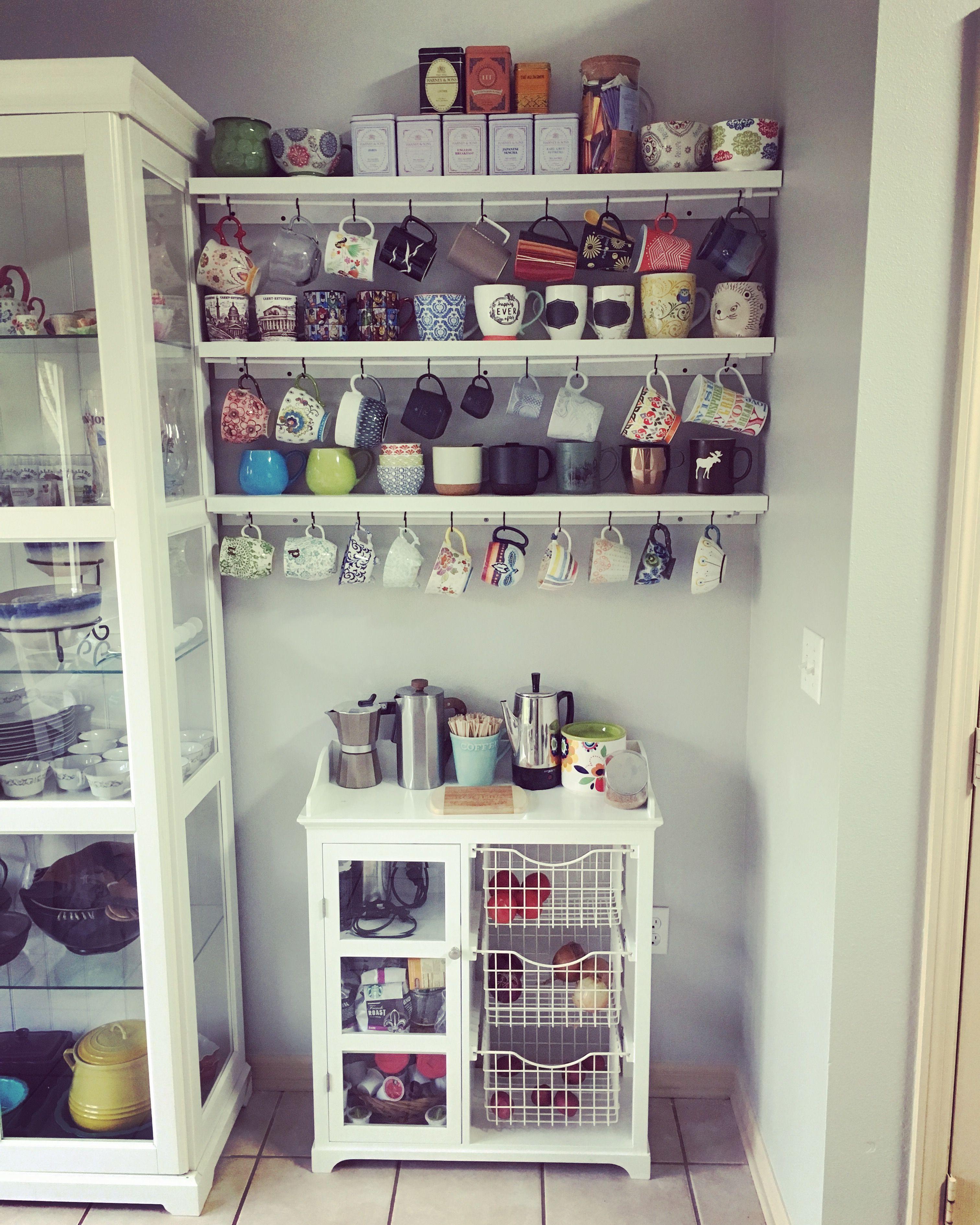 mug shelving rack mug hooks diy
