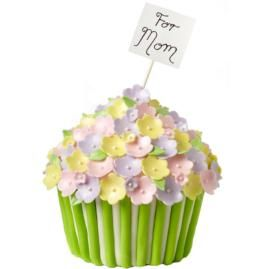 Give Mom a cheery surprise on her special day with this Bountiful Basket of Blooms cake made with our Dimensions® Giant Cupcake Pan. (via Wilton.com)