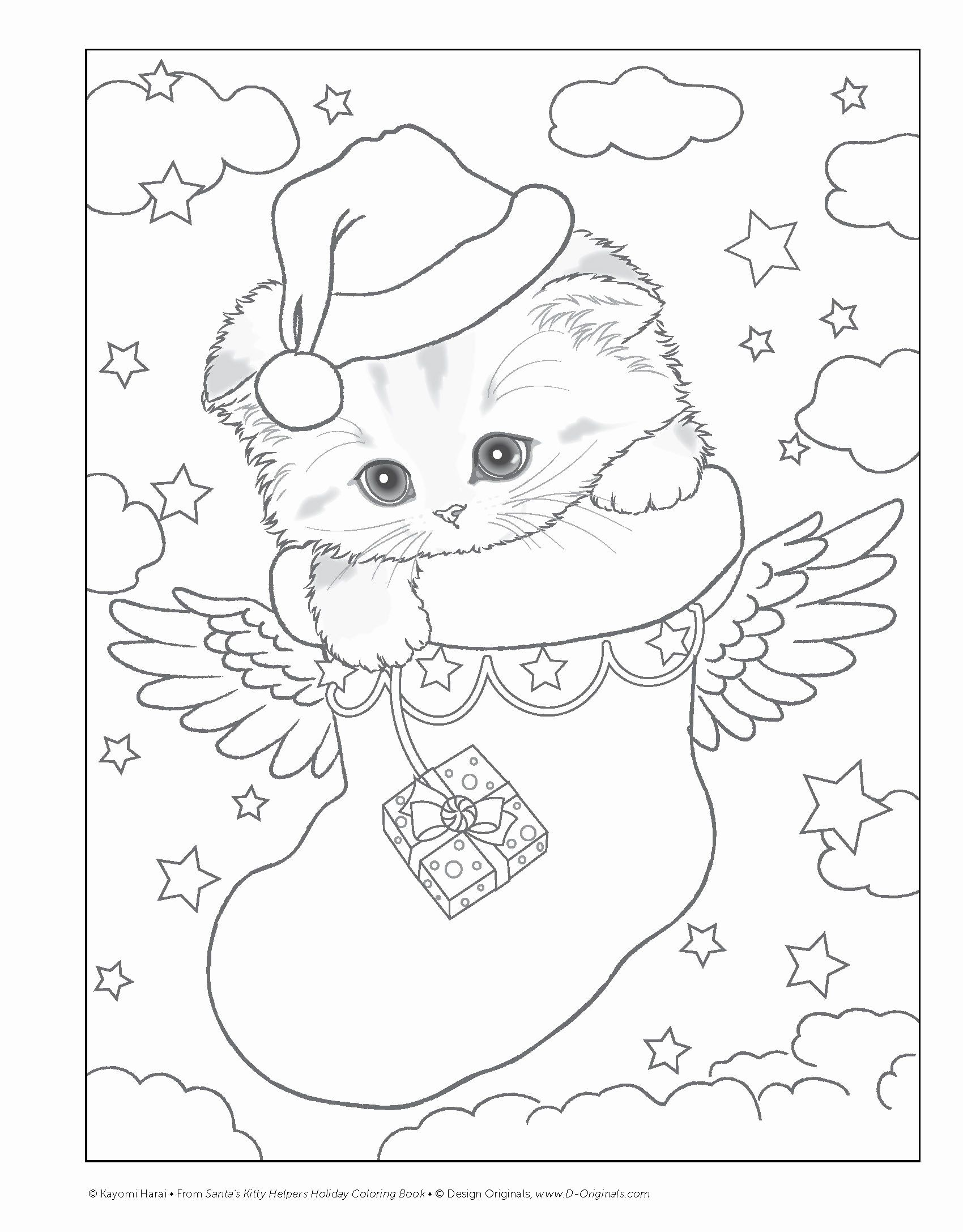 Cat Christmas Coloring Pages For Kids In 2020 Christmas Coloring Pages Christmas Coloring Sheets Designs Coloring Books