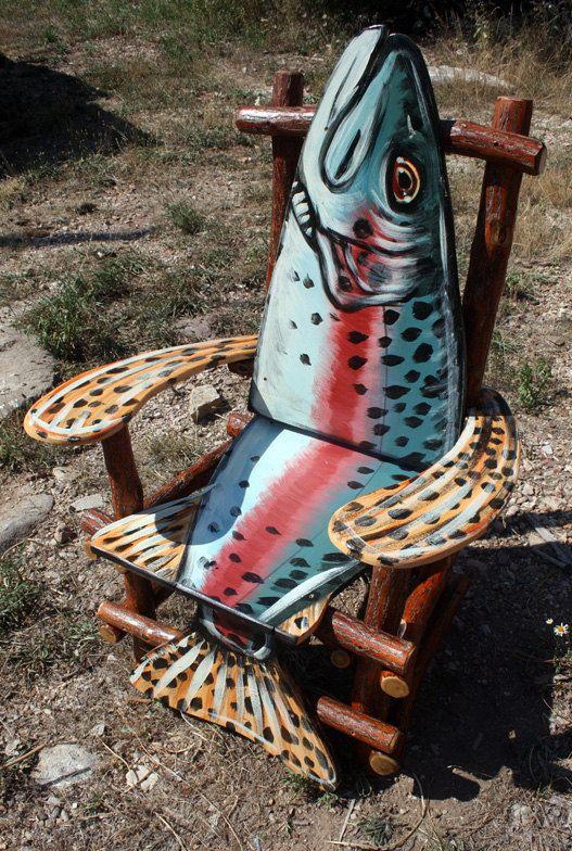 http://www.etsy.com/listing/105304575/hand-painted-sassafras-log-fish-arm