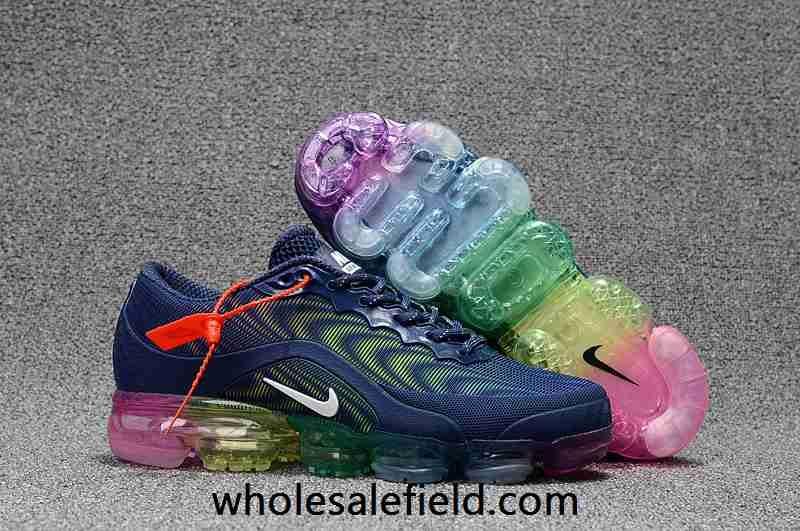 7607a4adce3ae Nike Air Max 2018.5 KPU Dark Blue Rainbow Sole Women Men