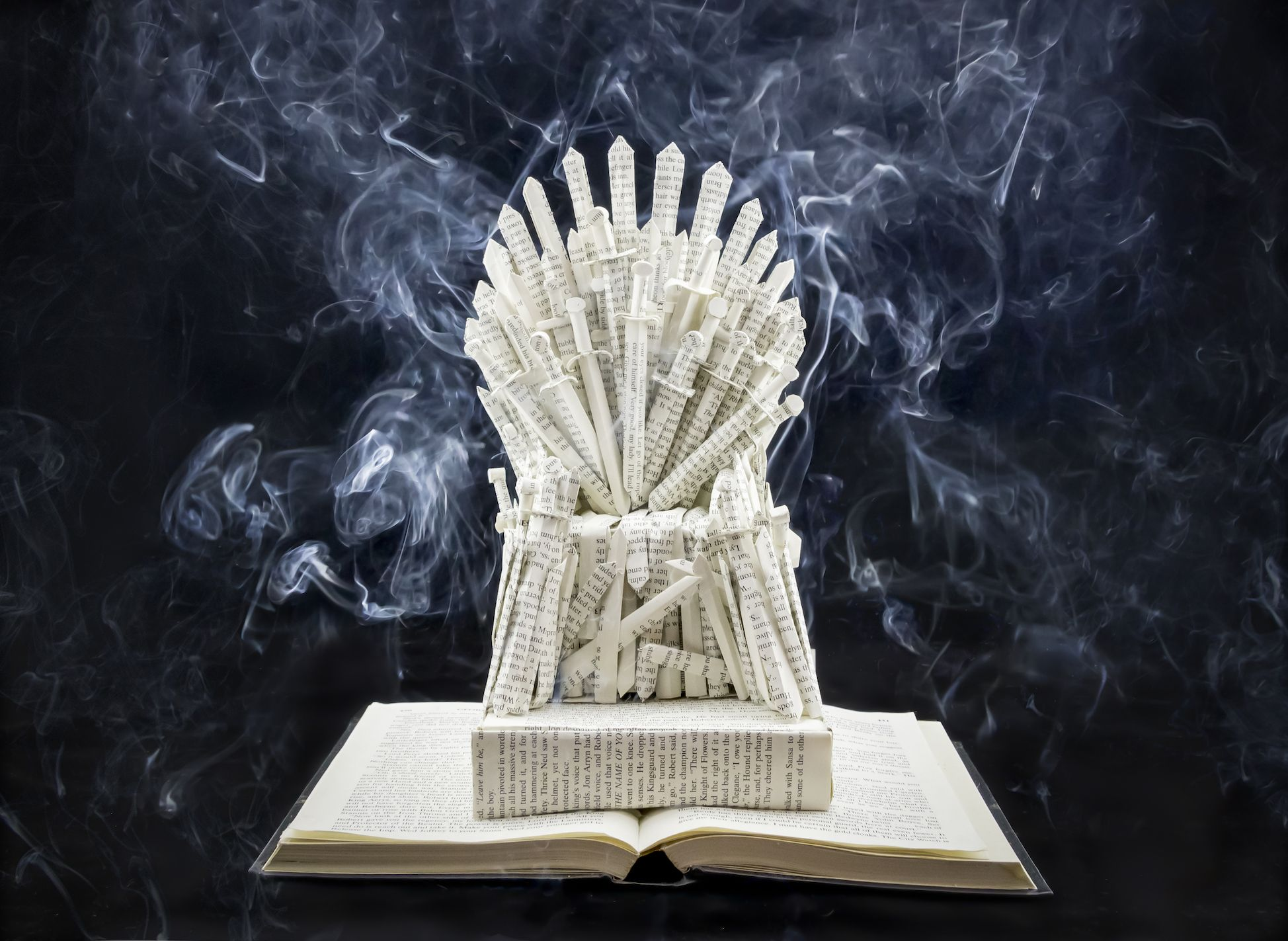 001 Game of Thrones The Iron Throne Book Sculpture by Jamie