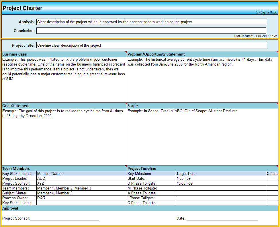 microsoft project charter template april onthemarch co