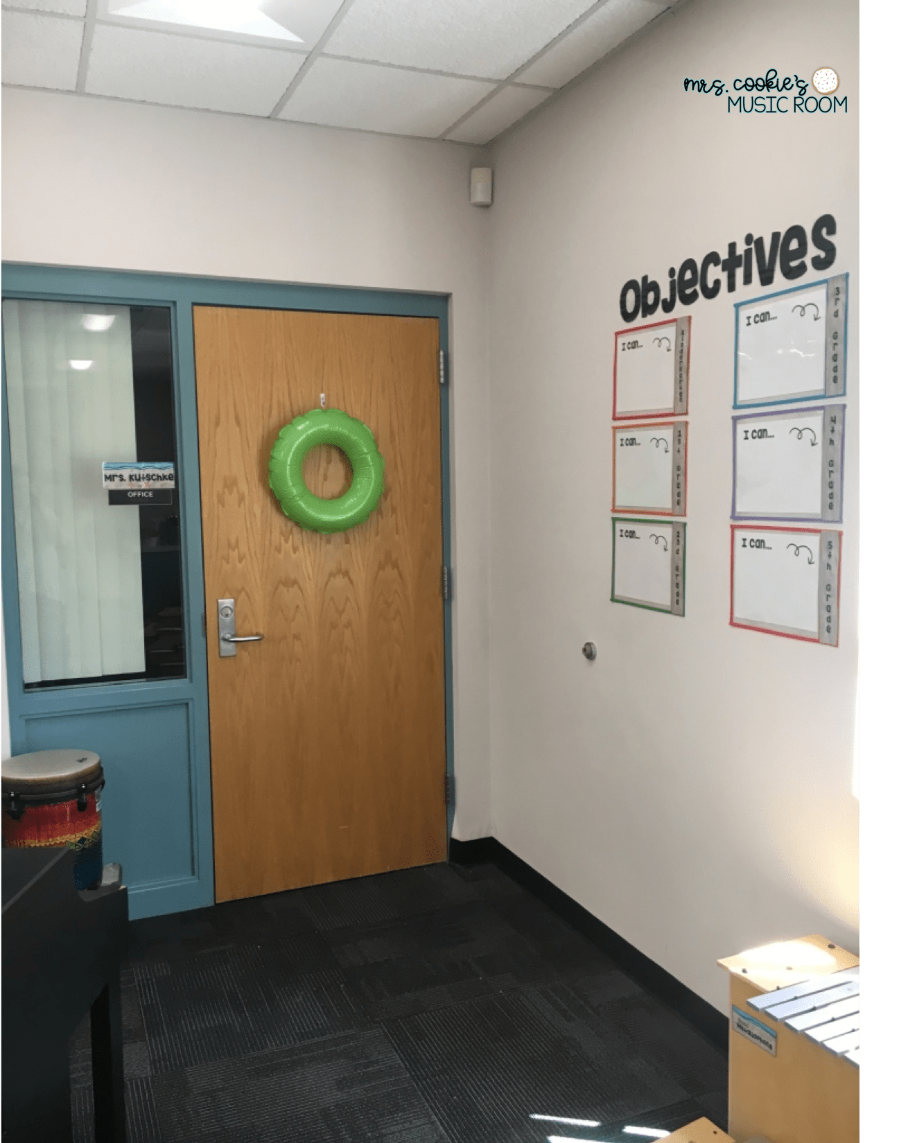 Objectives Display Of Beach Themed Music Classroom