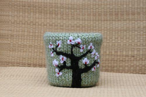 cherry blossom flower pot