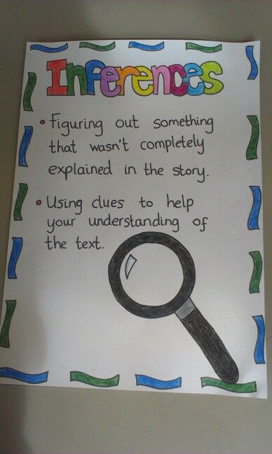 Inferences anchor chart eighth grade second guided reading teaching also nd charts rh pinterest