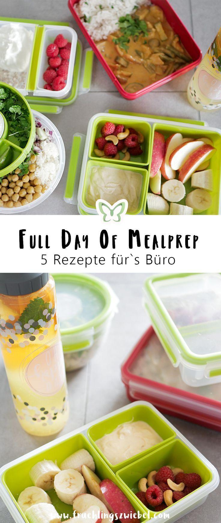 4 einfache Meal Prep Rezepte fürs Büro - 1600 Kalorien Beispieltag