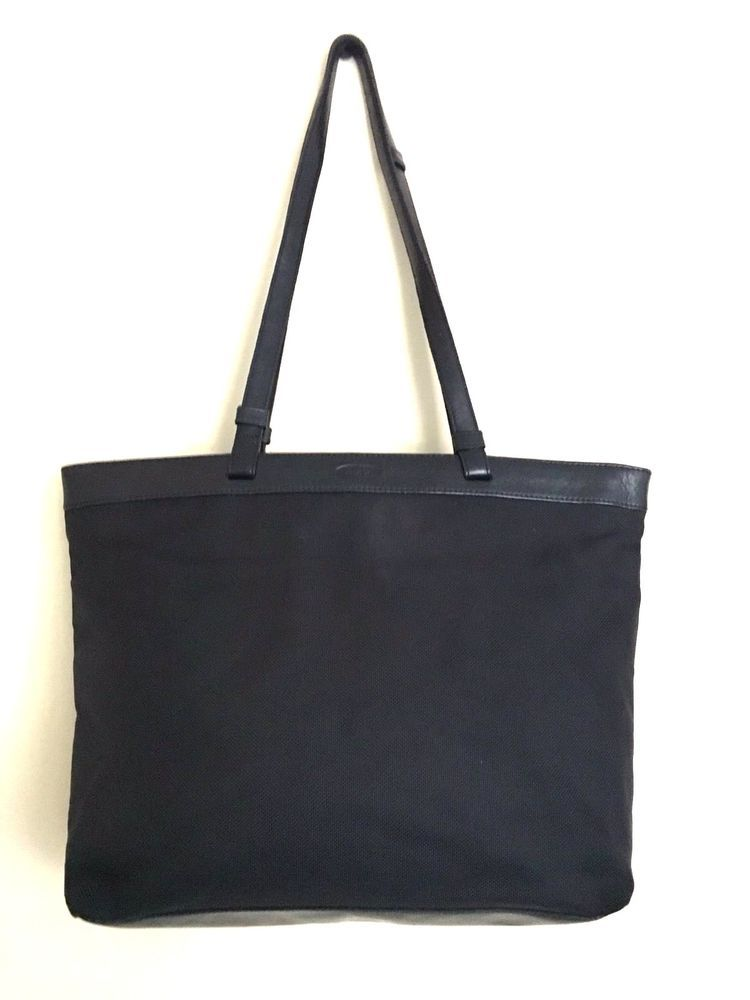 Oroton Purse Black Fabric Satchel Shoulder Zip Top Tote Bag  Oroton   TotesShoppers 82b3dea30