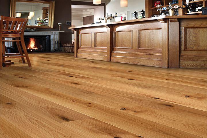 Rustic Wide Plank Laminate Flooring Harlech Oak Extra