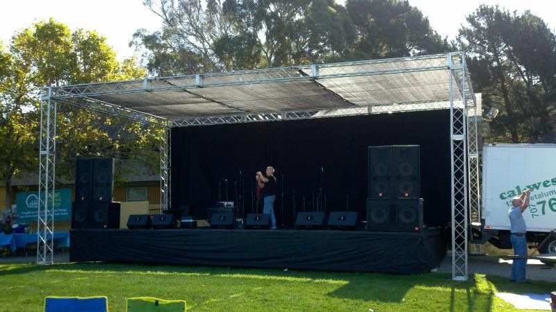Stage Lights And Sound Rentals Amp Production Services Stage Outdoor Stage Event Event Planning