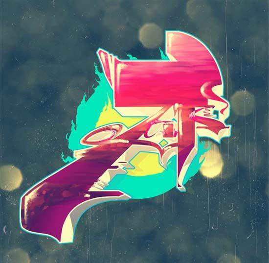 #graffiti, lettre A wildstyle