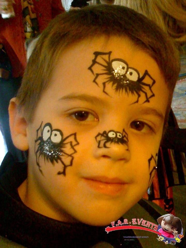 Araign es maquillage pinterest araign es maquillage et maquillage enfant - Maquillage halloween araignee ...