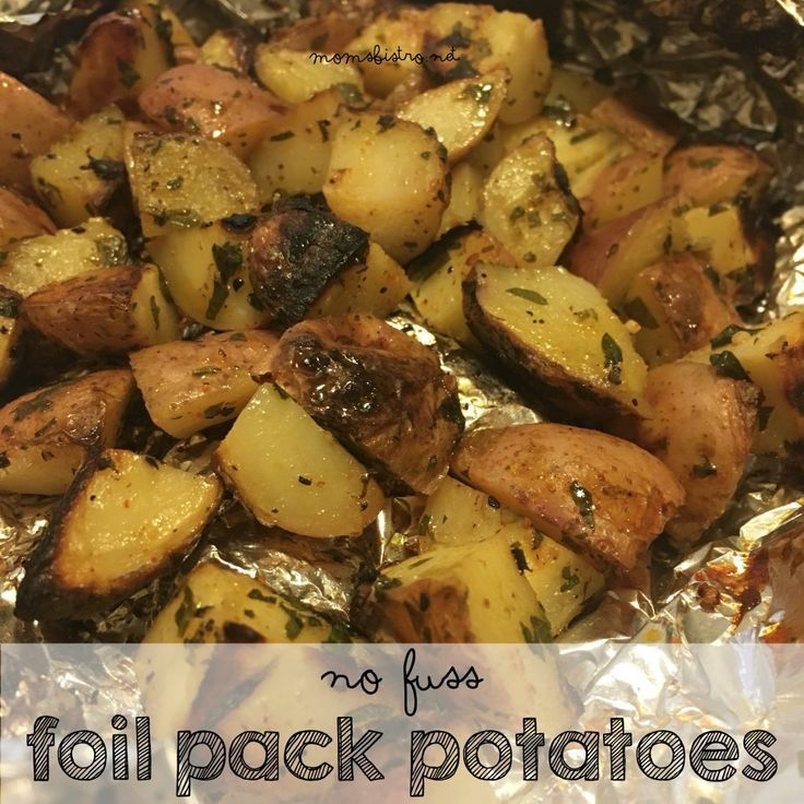Photo of Aluminum foil potatoes – side dishes   – Foil Pack Recipes – #aluminum #dishes #…